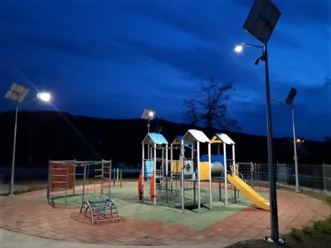 Nowy plac zabaw i siłownia w Koniuszowej. Jadąc na rowerze naładujesz telefon!