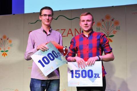Filip Oleksy, Mateusz Garwol i ich zwycięski robot - Nowy Sącz Nowe Technologie