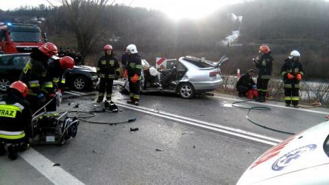 Wypadek w Jazowsku