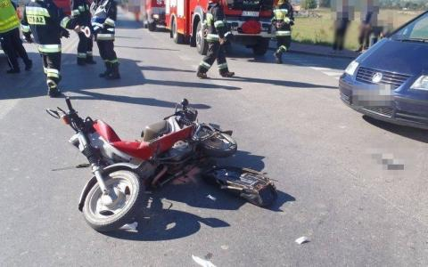 Motorower kontra Nissan Qasqai. Co się stało na Długosza w Nowym Sączu?