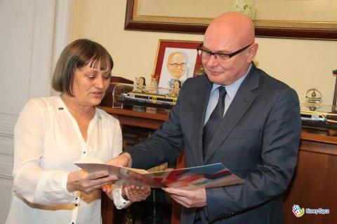 prezydent Nowak i pani Helena Kafel