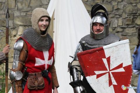 Średniowieczni rycerze na Jarmarku św. Małgorzaty