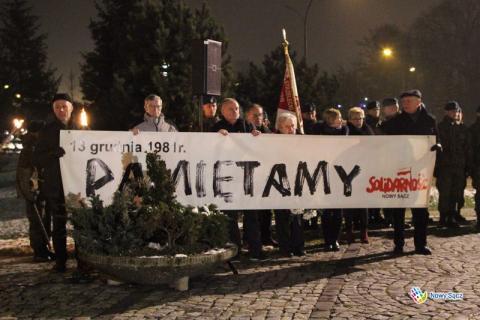 13 grudnia 1981 roku - Nowy Sącz - PAMIĘTA! A mury runą 8ba7bf25824