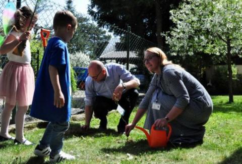 Zrobili odlotowy pachnący przedszkolny ogródek w Nowym Sączu