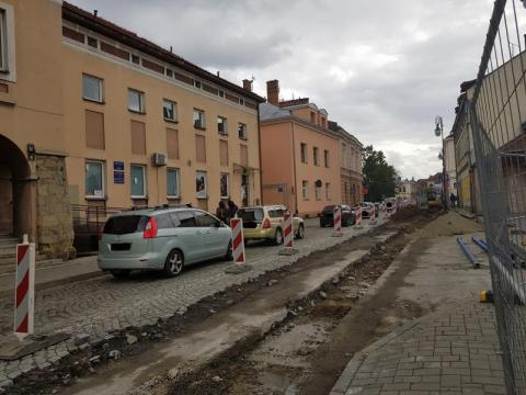 Remont ulicy Kazimierza Wielkiego w Nowym Sączu, fot. Iga Michalec
