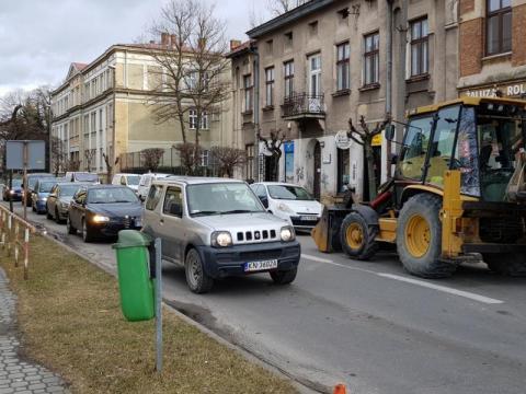 Rondo przy Kocich Plantach: objazdy już są, korków na razie nie ma