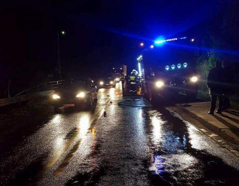 Tragiczny wypadek w Naściszowej. Mężczyzna w ciężkim stanie trafił do szpitala. Policja prosi o pomoc