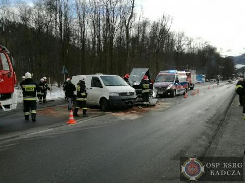 Ranna kobieta trafiła do szpitala