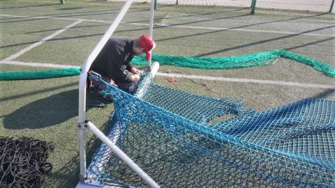 Boisko sportowe w Tęgoborzy odrestaurowane. Epidemia ułatwia remonty?