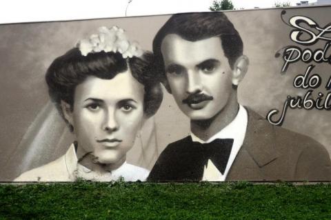 Życzenia na rocznicę ślubu w wersji graffiti