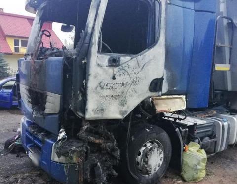 Paliła się ciężarówka. Prawdopodobnie ktoś ją podpalił