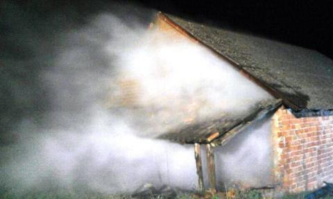 Podpalenie w Libuszy. Paliła się stodoła