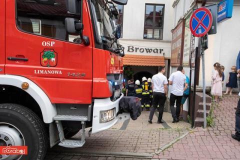 Pożar w limanowskiej restauracji. Zapalił się olej