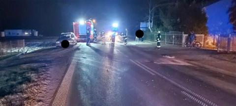 Wypadek w Podegrodziu. Motocyklista zderzył się z samochodem