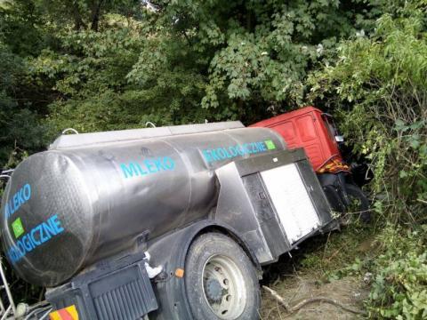 Kierowca cysterny nie wie, jak doszło do wypadku. Twierdzi, że to nie jego wina