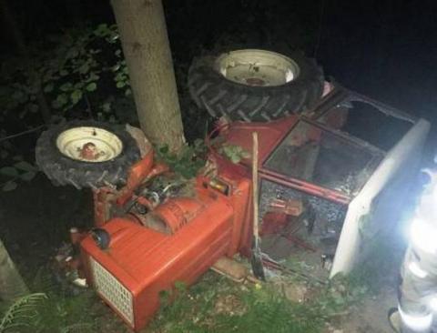 Dramatyczny wypadek w lesie. Śmigłowiec zabrał rannego do szpitala