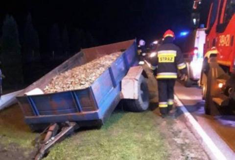 Wypadek w Kąclowej. Jedna osoba trafiła do szpitala