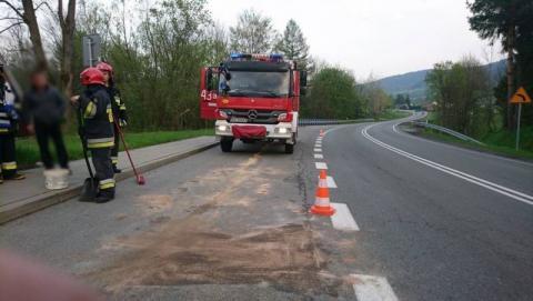 Około 30 km drogi zalanej paliwem i 54 strażaków w akcji!