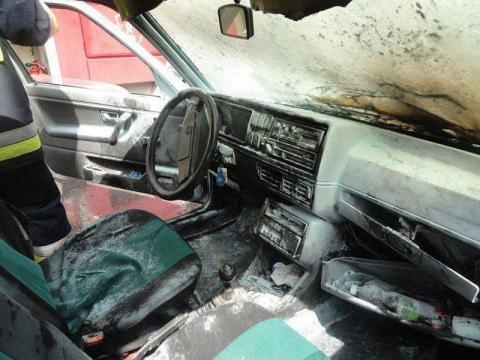 Pożar auta na ul. Zdrojowej
