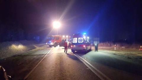 Motocyklista zderzył się z sarną. Mężczyzna zakończył podróż w szpitalu