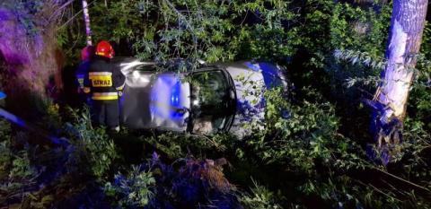 wypadek w Łazach Brzyńskich, fot. PSP w Nowym Sączu