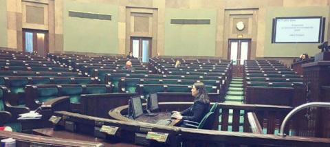 pusta sala Sejmu