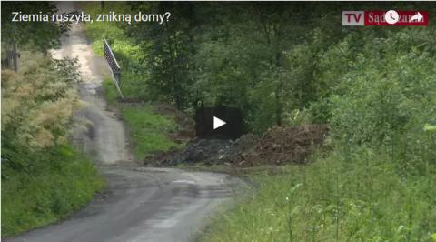 Kamionka Wielka: Ruszyła góra na Homontówce. Zabierze drogę a potem domy? [FILM]