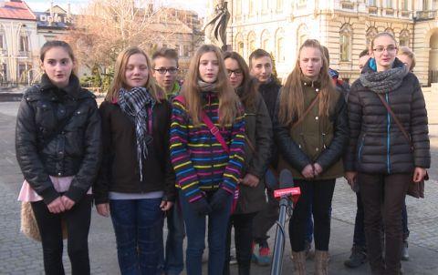 Gimnazjaliści z Łabowej