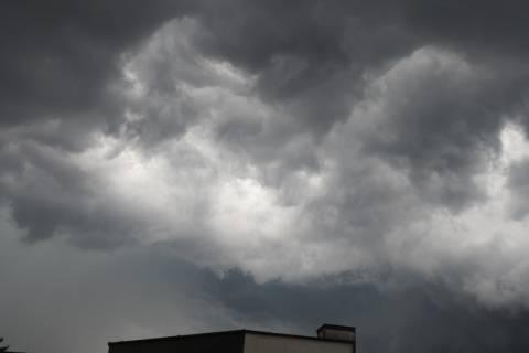 Burza nad Nowym Sączem