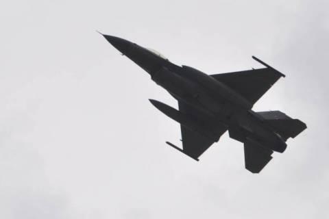 Dwa myśliwce Fighting Falcon 4. generacji pojawiły się w Łososinie Dolnej z okazji 65-lecia Aeroklubu Podhalańskiego.