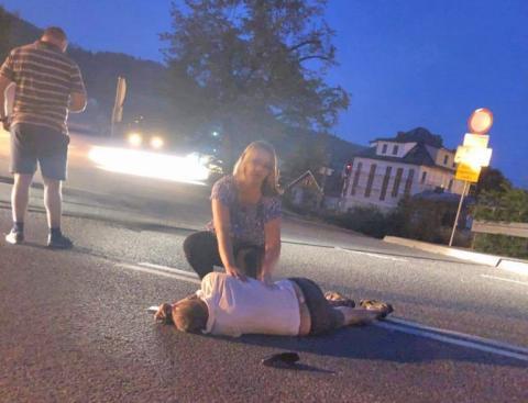 Kto ratował rannego mężczyznę? Sądeccy policjanci odnieśli się do sprawy
