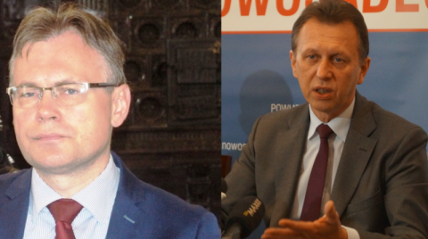 poseł Arkadiusz Mularczyk, marszałek Jacek Krupa