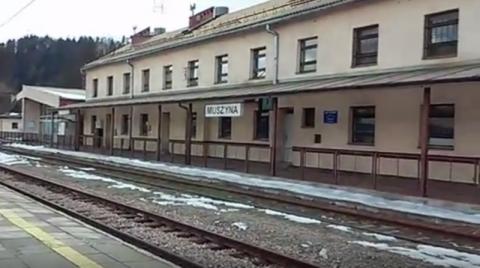 dworzec PKP w Muszynie