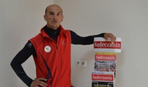 Tomasz Brzeski w redakcji Sądeczanina