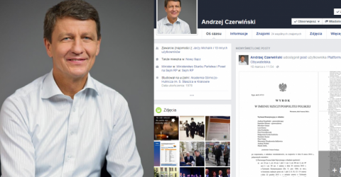 Wyrok w sprawie Trybunału Konstytucyjnego na fejsiku u Czerwińskiego