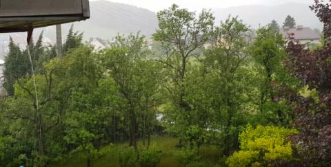 Chceliśmy deszczu. Mamy ścianę wody. Ulewa nad Nowym Sączem [WIDEO]