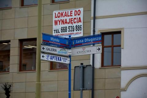 Skrzyżowanie ulic Młyńskiej z Długosza