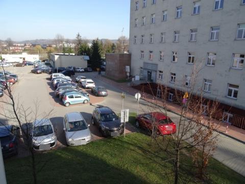 Utrudnienia z parkowaniem pod szpitalem, fot. Iga Michalec
