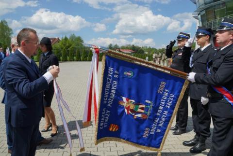 Powiatowe Obchody dnia strażaka, fot. Starostwo Powiatowe w Nowym Sączu