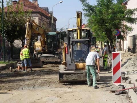 Ulica Długosza - remont