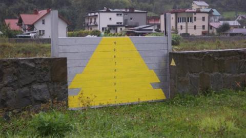 brama powodziowa na Popradziew Muszynie