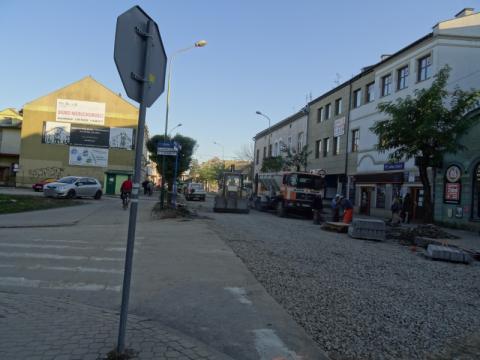 Remont ulicy Długosza w Nowym Sączu, fot. Iga Michalec