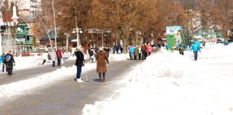 Krynicki deptak zimą