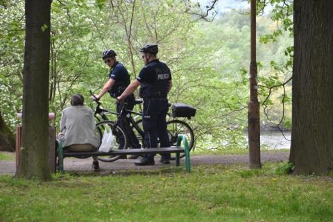 policyjne patrole, fot. KMP w Nowym Saczu
