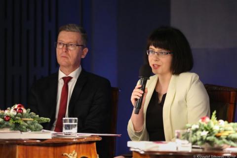 Książka prof. Wojciecha Kudyby w Belwederze
