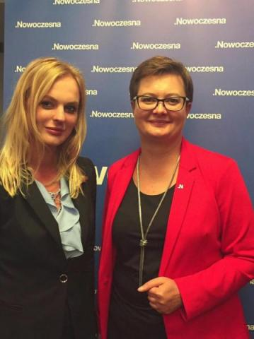 Elżbieta Ruchała i Katarzyna Lubnauer