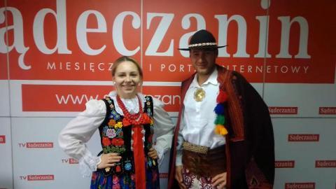 """Zespół regionalny """"Górale Łąccy"""" złożył życzenia na 2021 rok [WIDEO]"""