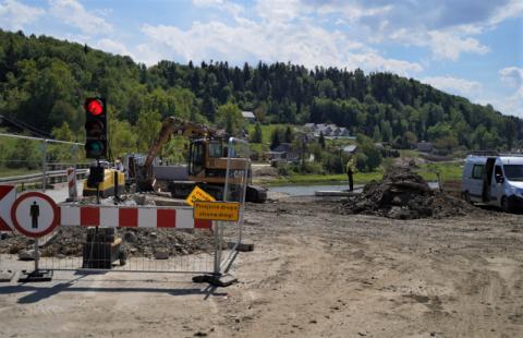 Przebudowa drogi wojewódzkiej w Gródku nad Dunajcem. Gdzie nie ma już utrudnień?