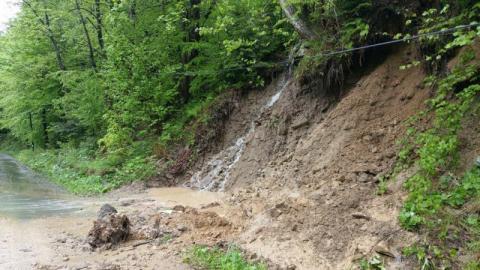 Gmina Łabowa, skutki powodzi, Fot. UG w Łabowej