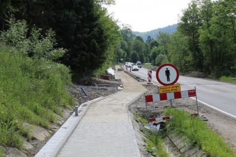 Budowa chodników w gminie Łabowa, fot. UG w Łabowej
